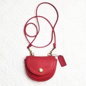 Vintage Coach red crossbody mini belt bag